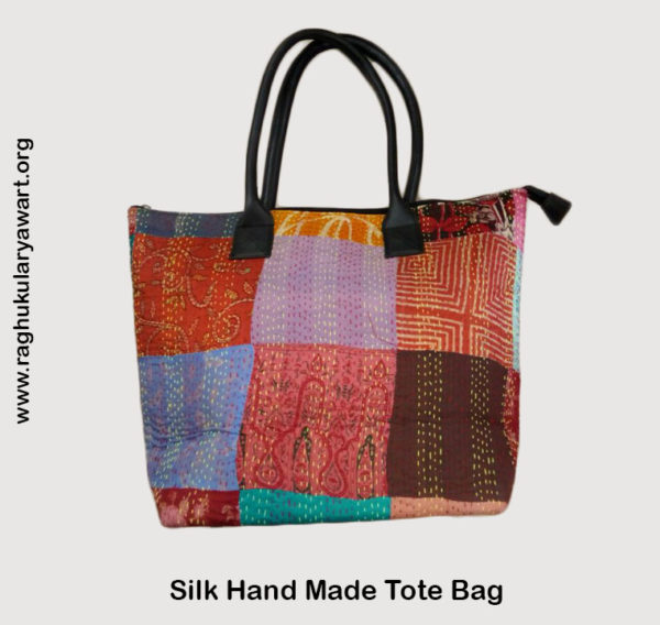 Hand Made Silk Tote Bag